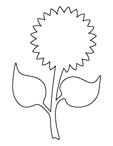 sunflower template free sunflower template free clip free clip on clipart library