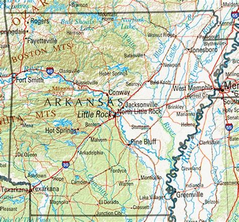 arkansas maps perry castaneda map collection ut