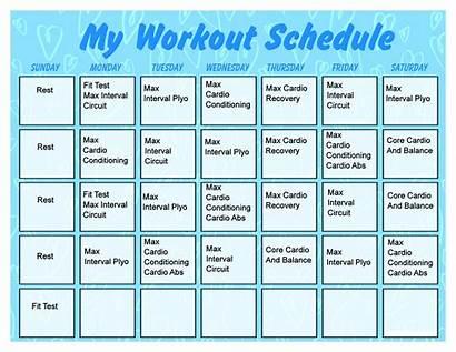 Workout Printable Calendar Schedule Exercise Template Pdf