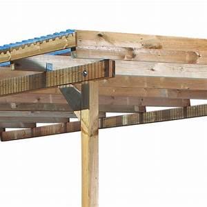 toit de terrasse bois massif autoclave karibu 433x303cm With toit terrasse en bois