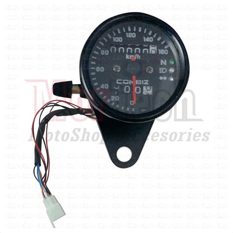 jual rpm speedometer kilometer bulat jarum manual analog plus indikator sein sen lu jauh