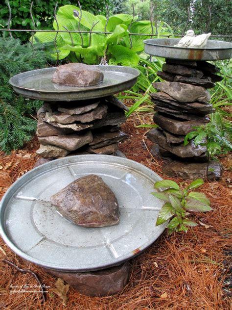 resourceful diy birdbath ideas  bring life   yard