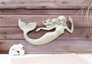 16quot mermaid wall sculpture decoration nautical 3d plaque With mermaid wall decor