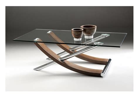 Tusk Glass Coffee Table  Glass And Polish Chrome Finish