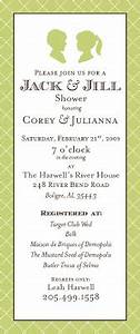 empress stationery a jack jill wedding shower With jack and jill wedding shower invitations