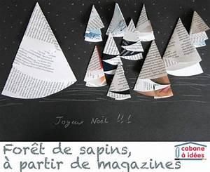 Sapin En Papier Plié : une for t de sapin en papier de magazines boites et ~ Melissatoandfro.com Idées de Décoration