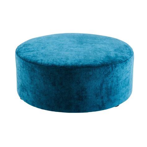 Repose Pied Maison Du Monde Pouf En Velours Bleu Amelia Maisons Du Monde