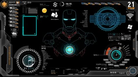 theme bureau windows 7 ironman1 windows7 rainmeter theme