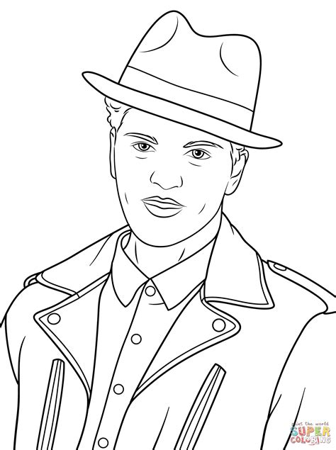 mars coloring pages bruno mars coloring page free printable coloring pages