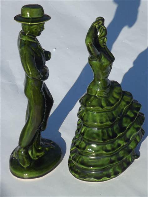 vintage ceramic art spanish flamenco dancers