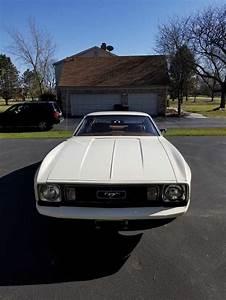 1st Generation White 1973 Ford Mustang V8 3spd Manual For