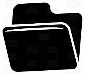 Open Tabbed File Folder Black And White Computer Icon ...