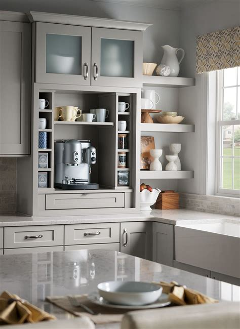 shenandoah cabinetry coffee bar painted stone mission