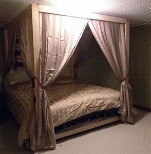 Add canopy to bed ideas about homemade canopy on canopies for Diy canopy bed from pvc pipes