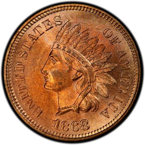 indian pennies 1868 indian head pennies values and prices past sales coinvalues com