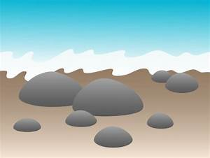 Smooth Stones by the Seashore - Free Clip Art