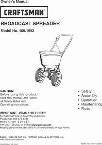 Craftsman 4861992 User Manual Broadcast Spreader Manuals