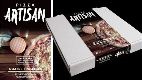 artisan cuisine packaging pizza artisan on behance