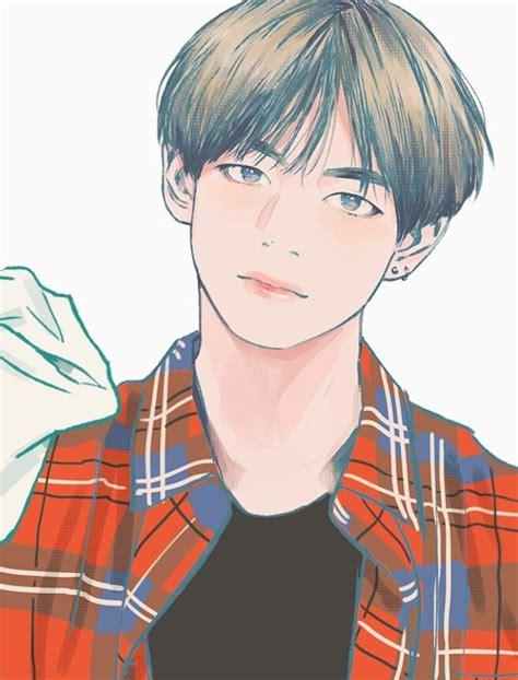 Anime Wallpaper Bts V by V Taehyung Fanart Random K Idols Bts Wallpaper