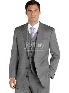 s wearhouse wedding suits three pieces notch lapel grey business suits