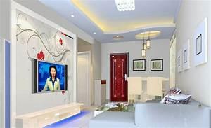 3D rendering of light blue ceiling design