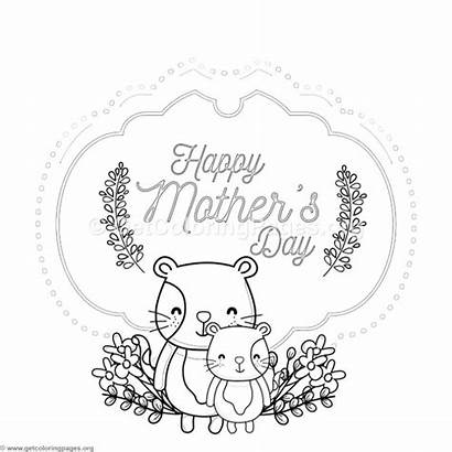 Card Coloring Mother Cat Pages Mothers Getcoloringpages