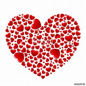 Süße Herz Bilder : herz aus vielen gl nzenden roten herzen vektor freigestellt stockfotos und lizenzfreie ~ Frokenaadalensverden.com Haus und Dekorationen