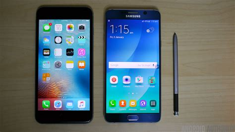 samsung galaxy note 5 iphone 6s plus