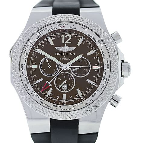 bentley breitling clock breitling for bentley a47362 special edition gmt world