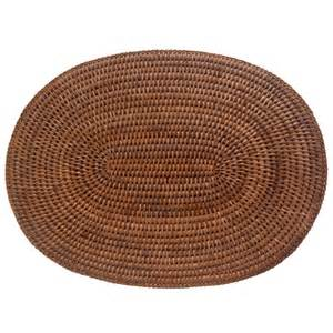 picnic basket set for 2 oval rattan placemats