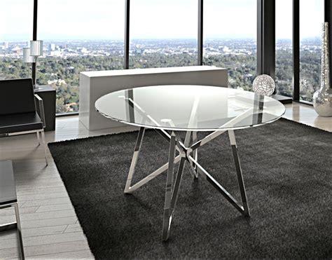 runder esstisch glas metall tisch rund verchromt