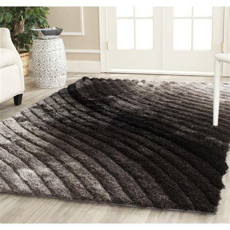 shag area rug safavieh tufted silken silver 3d shag area rugs