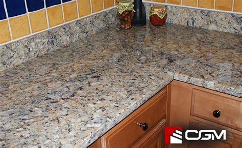 giallo napoleone classic granite kitchen countertops