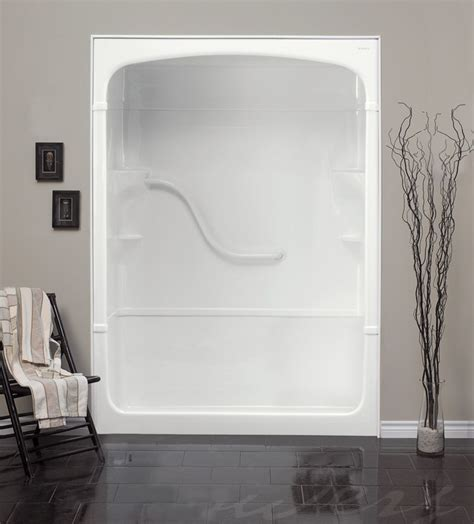 Shower Stalls Canada by 60 Inch 3 Acrylic Shower Stall No Seat Left