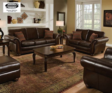 Simmons Leather Furniture Living Room Set (simmons Leather