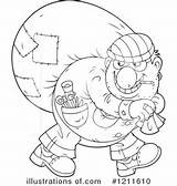 Robber Coloring Pages Clipart Illustration Royalty Printable Getcolorings Bannykh Alex sketch template