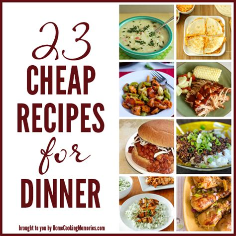 cheap recipes  dinner home cooking memories