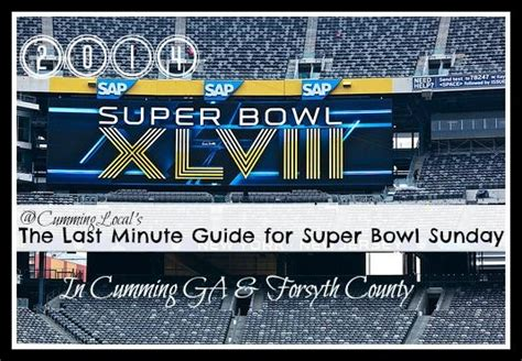 Super Bowl Sunday Things To Do In Cumming Ga And Forsyth