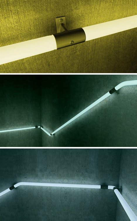 light rail led hand railings  safely light