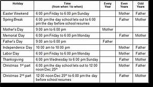 child custody visitation schedule template templates With custody schedule template