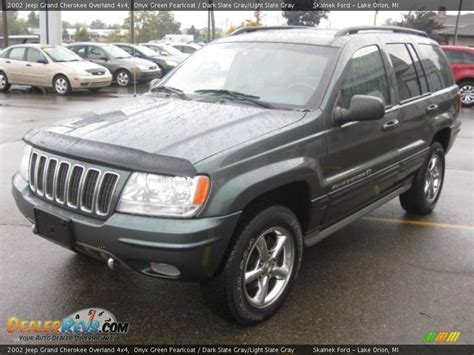 dark gray jeep grand cherokee 2002 jeep grand cherokee overland 4x4 onyx green pearlcoat