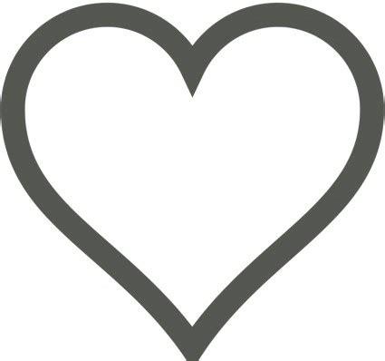 vector heart icon deselected vector clip art ai svg