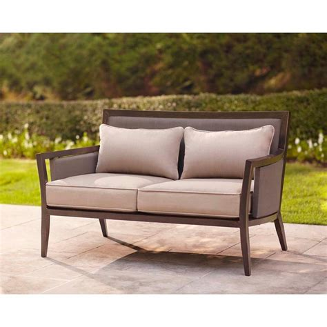 Patio Loveseat Cushion by Brown Greystone Patio Loveseat With Sparrow