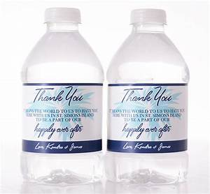 Beach themed wedding custom water bottle labels labelsrus for How to put labels on water bottles