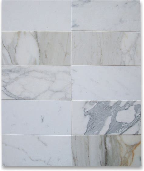 calacatta gold 6 x 12 subway tile honed marble from