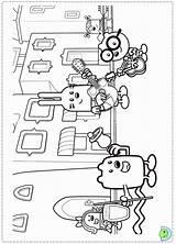 Coloring Wubbzy Wow Dinokids Wowwow Popular Close sketch template