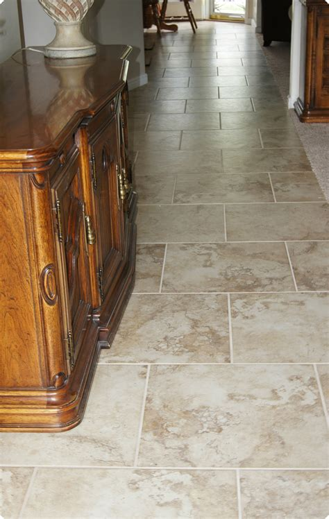 ceramic kitchen floor tile ideas staggered tile floor kitchen morespoons 2d2b50a18d65 8089