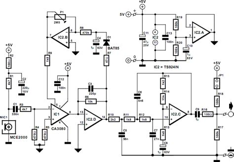 Compressor For Electret Microphone Circuit Diagram