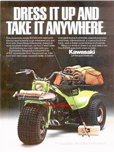 Three Wheeler World 1981 Thru 1982 Kawasaki Ads Page