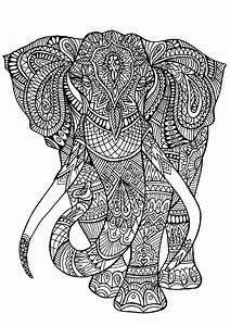 Elephant Coloriages D39Animaux 100 Mandalas Zen Anti Stress